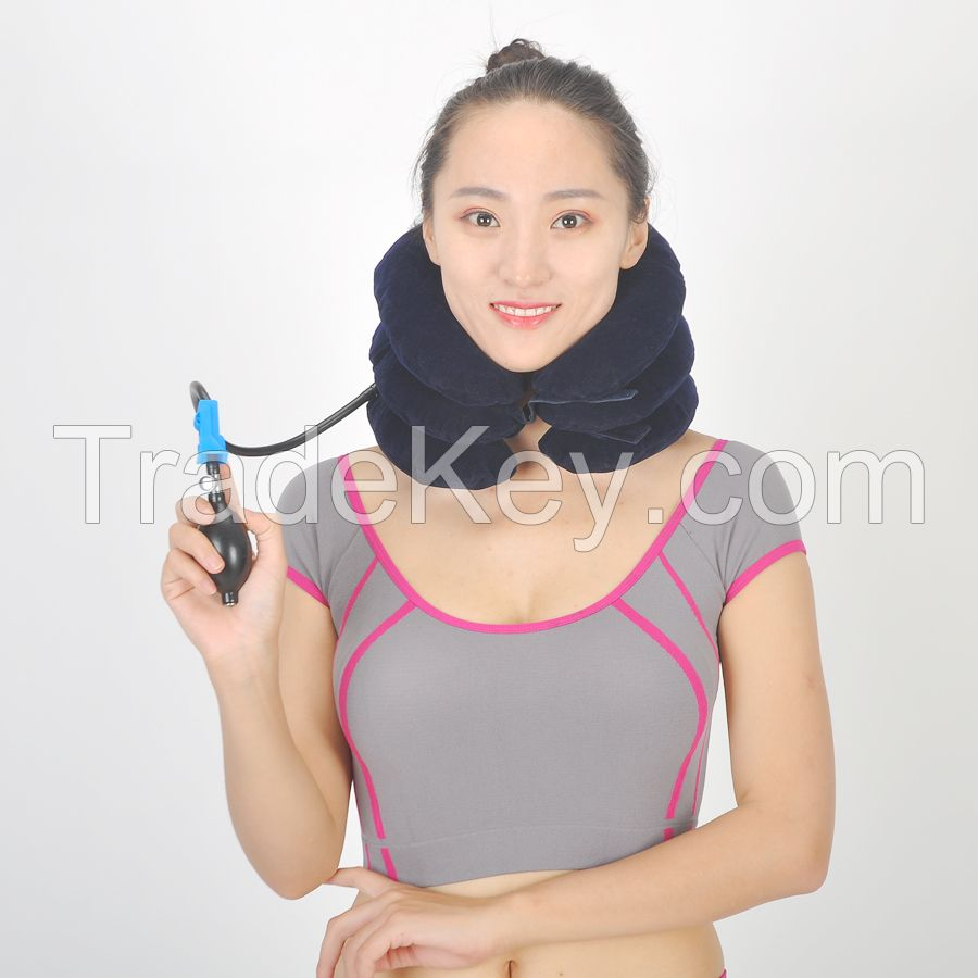 Inflatable cervical collar neck support collar