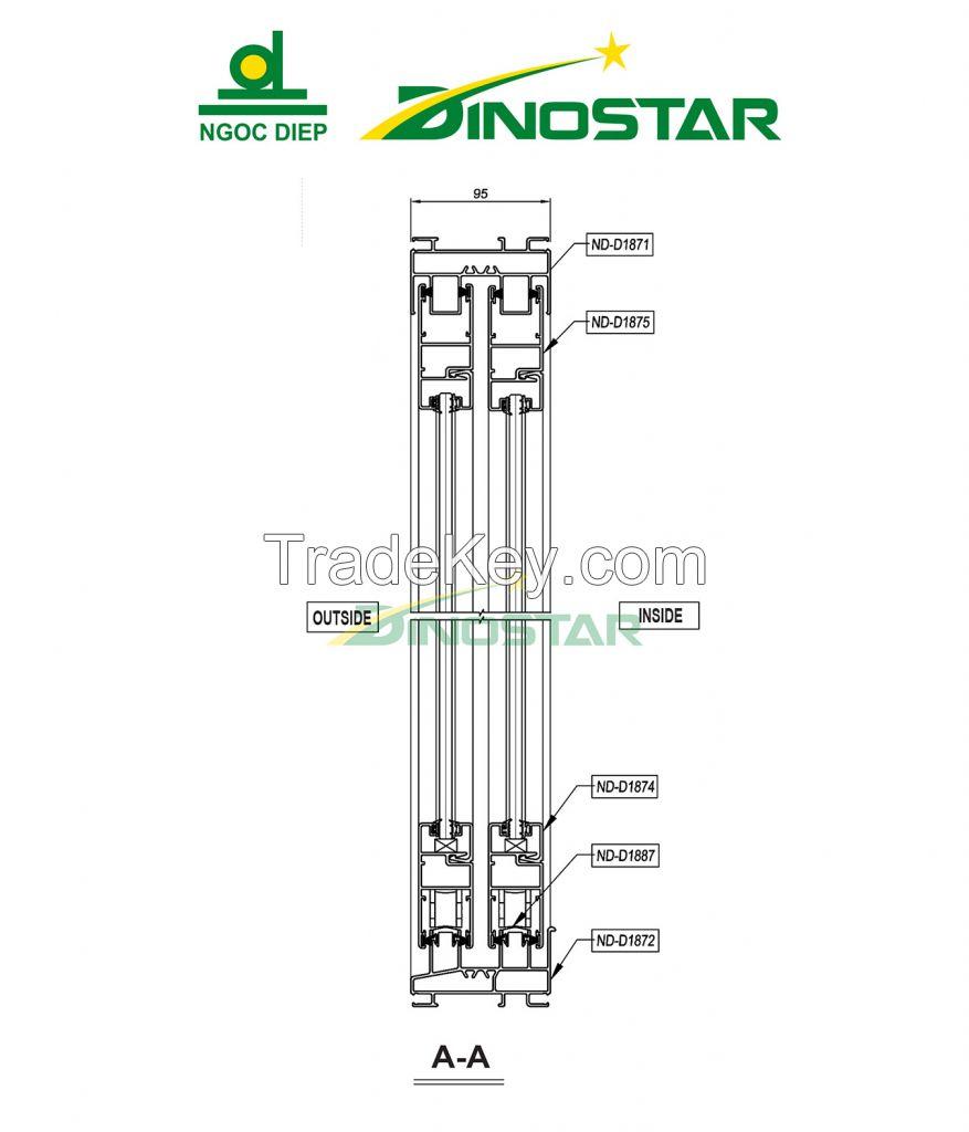 Wood grain Aluminium Extrusion Product
