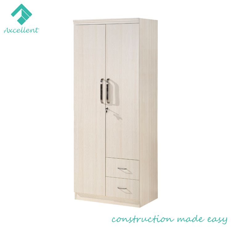 Foshan manufacturer low price MDF wooden bedroom wardrobe