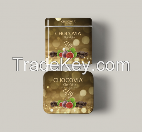 Gift choco dragees, Tin box