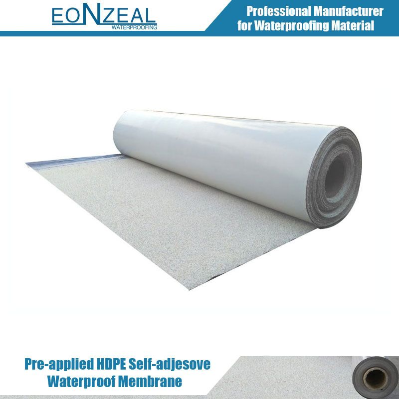 Pre-applied HDPE fully bonded waterproof membrane(sand finish)