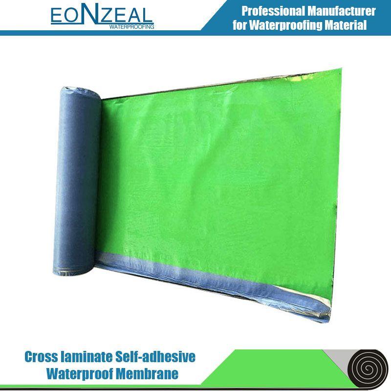 Self-Adhesive Bitumen Waterproof Membrane with Cross-Laminate