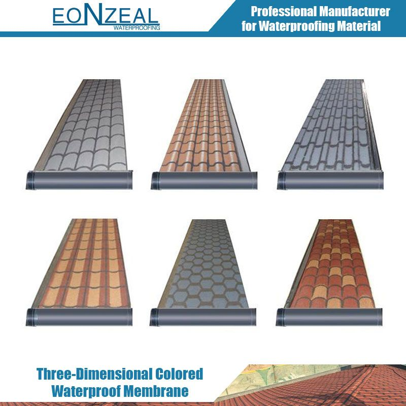 Three-Dimensional Colored Waterproof Membrane