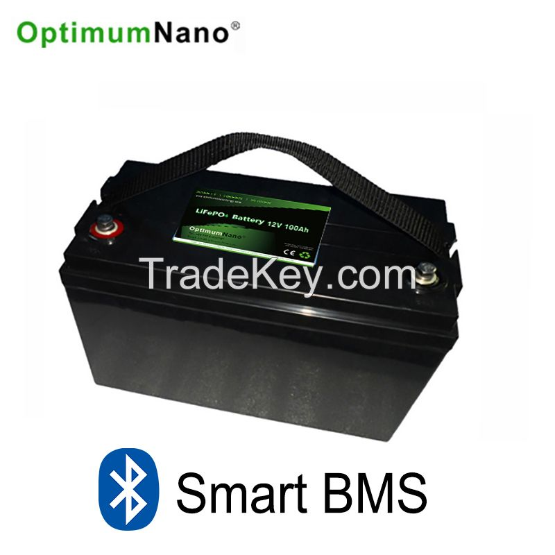 Optimumnano sealed 12v 100ah li-iron battery for solar energy storage system, replace lead acid battery