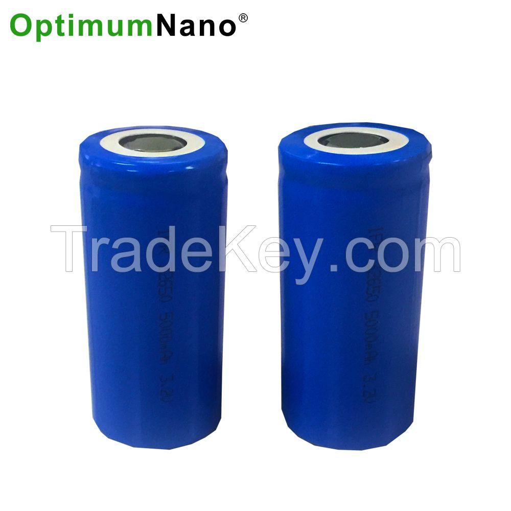 Optimumnano 32650 lifepo4 cell 3.2v 5.5ah