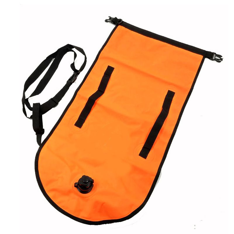 Large Inflatable Safer Swimmer Buoy with Dry Bag