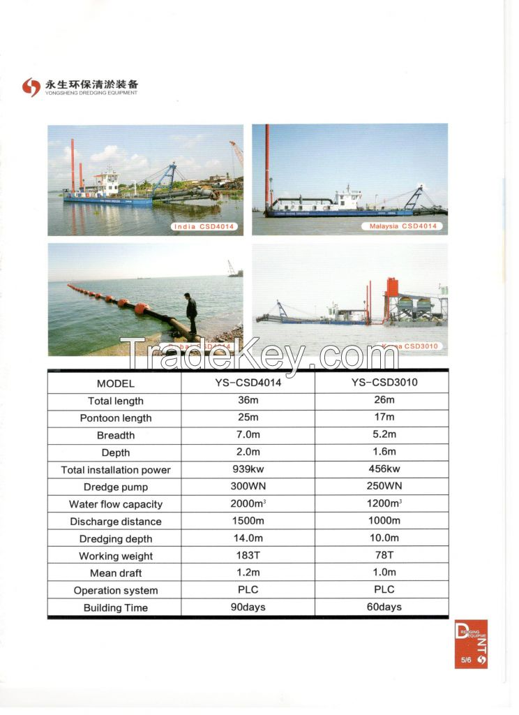 cutter suction dredger