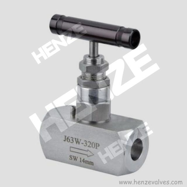 BW SW Ferrule NPT Threaded Angle 3Way Needle Valve With Nipple
