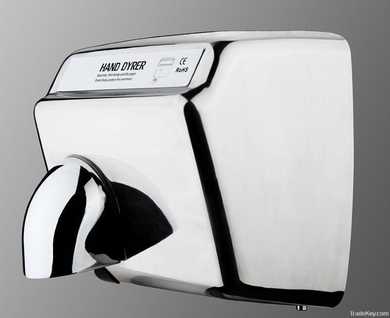 High speed stainless steel hand dryer, sensor hand dryer