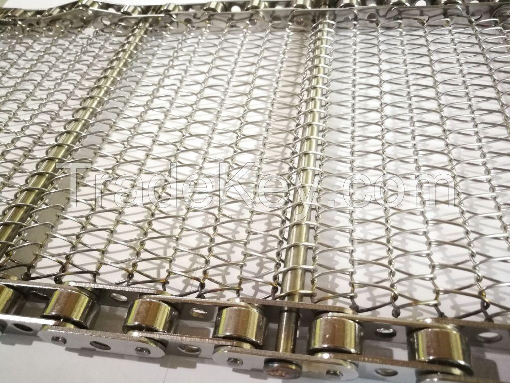 Selected Stainless Steel Chain Mesh Conveyor Belt , Metal Mesh Belt Heat Treatment