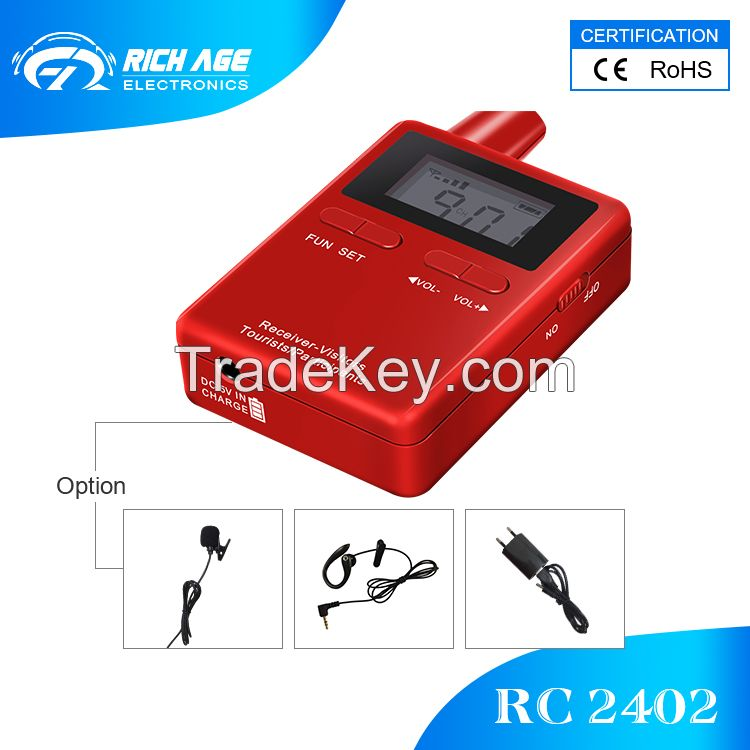 RichiTek 2018 BEST SELLING tour guide system audio for travel agency