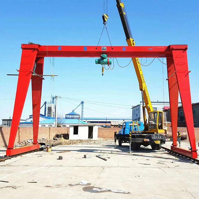 2 ton-32 ton Single Girder Gantry Crane customized dual speed 30m design drawing