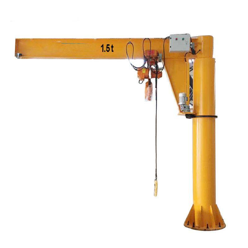 50 kg-5000 kg Pillar-Mounted Slewing Jib crane fixed type design drawing portable mobile crane price