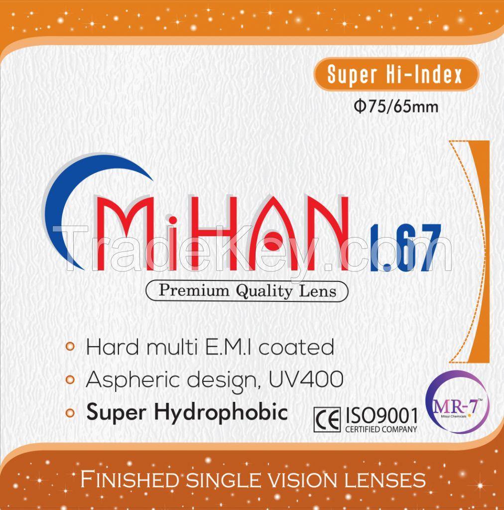 Best price 1.67 MR-7 AS HMC-SHMC UV400 Optical Lenses