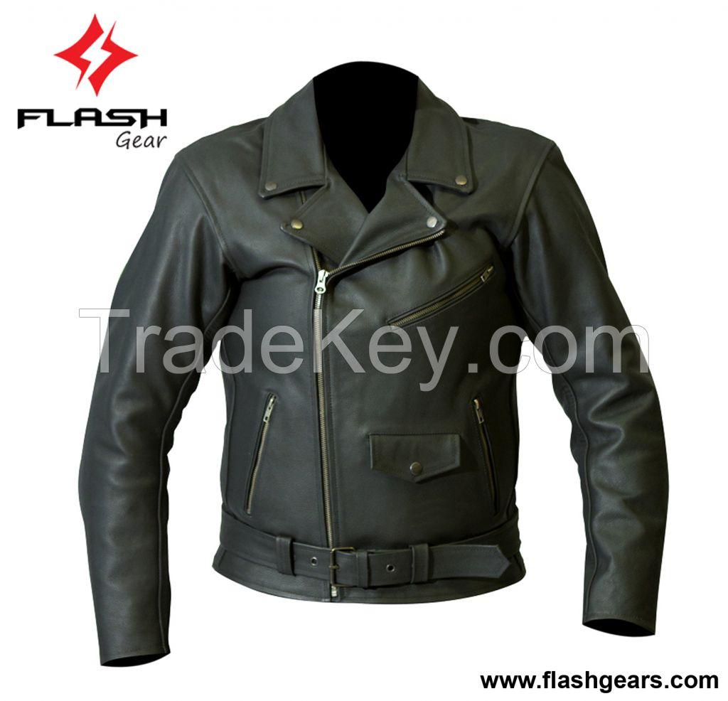 Men Leather Motorbike Brando Jackets