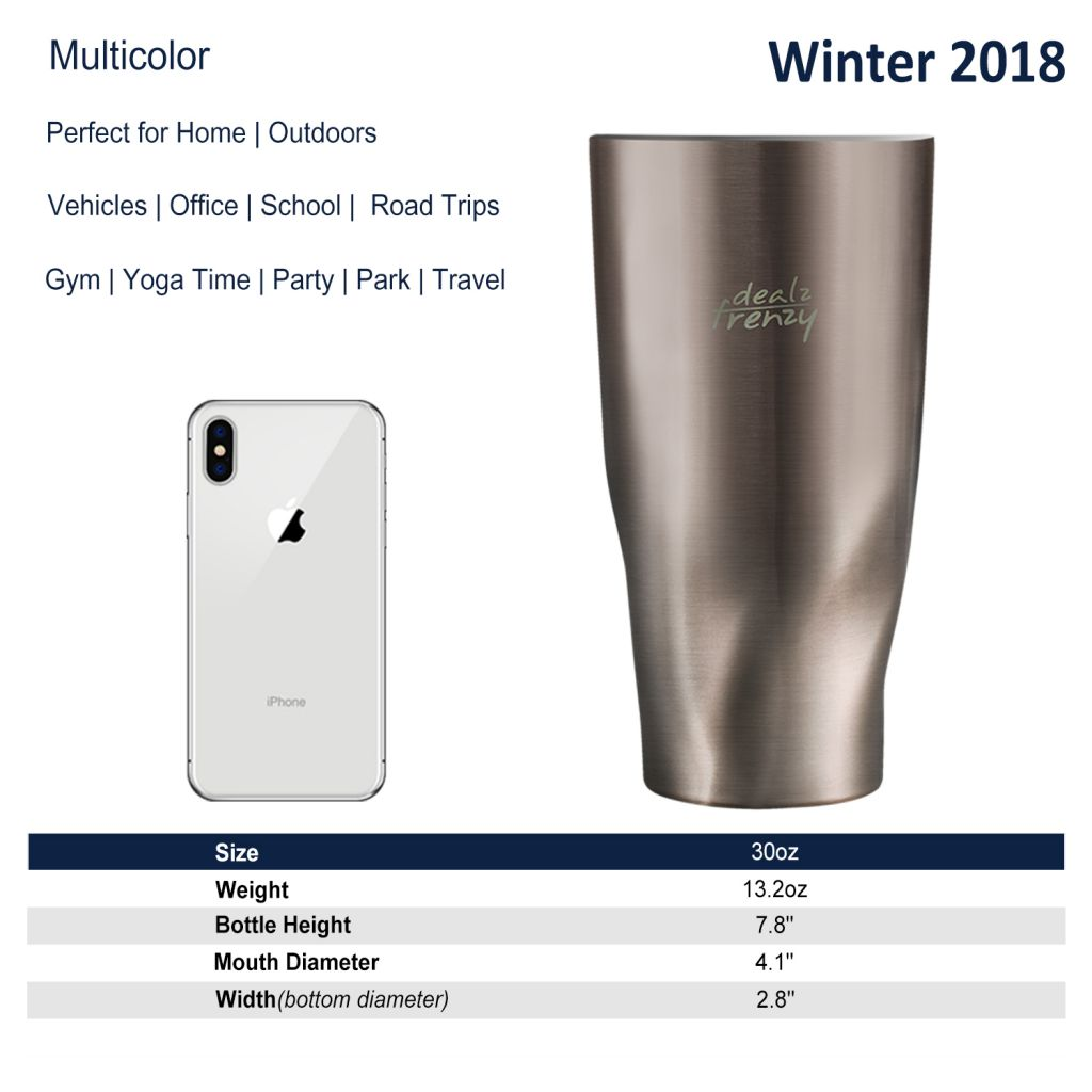 Stainless Steel Travel Coffee  Mug Insulated Tumbler Double Wall Vacuum with Lid, Coffee Cup BPA Free, No Sweat Water Flask Bulk Vacuum Insulated Bottle, Thanksgiving Gift 30 oz