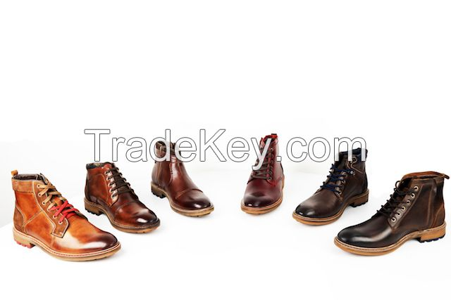 Leather and synthetic shoes