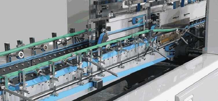 ZH-850H Automatic Small Box Gluer High Quality Folding Carton Box Gluing Machine