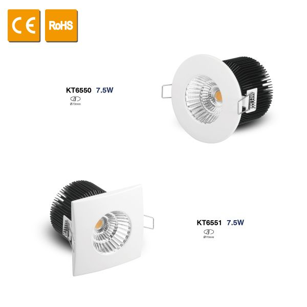 10W IP44  Energy Saving Led Round Recessed Downlight
