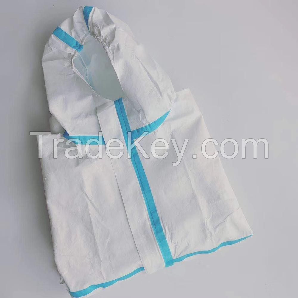 In stock SMS White Safety Protective Cleanroom Industrial Protective Suit