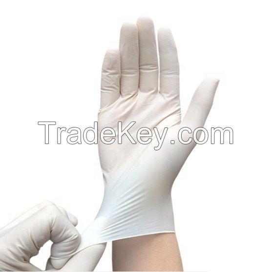 wholesale CE Disposable Latex Transparent Surgical powder gloves