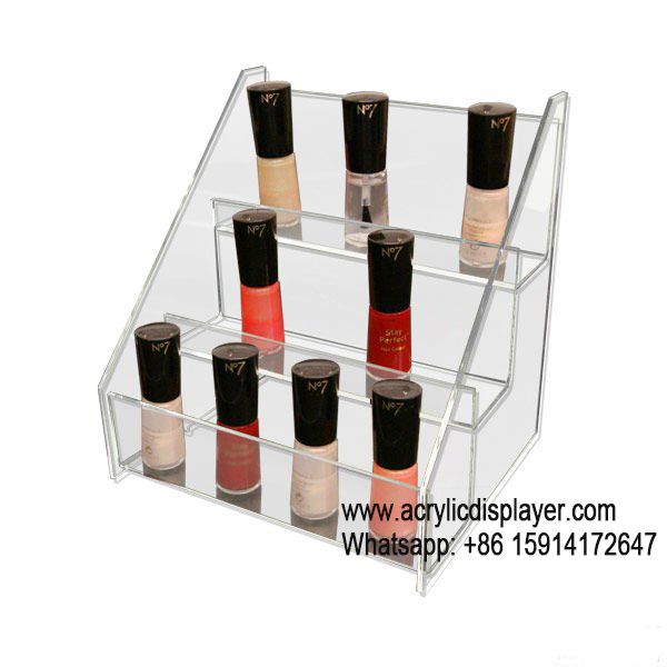 Three Tiers Counter Acrylic Display Stand