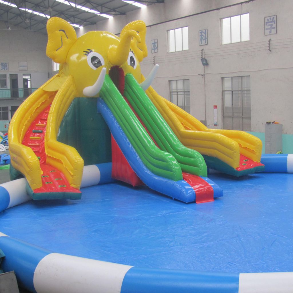 Factory Customized Popular Elephant Mobile Inflatable Water Park Slide for Adult Kids