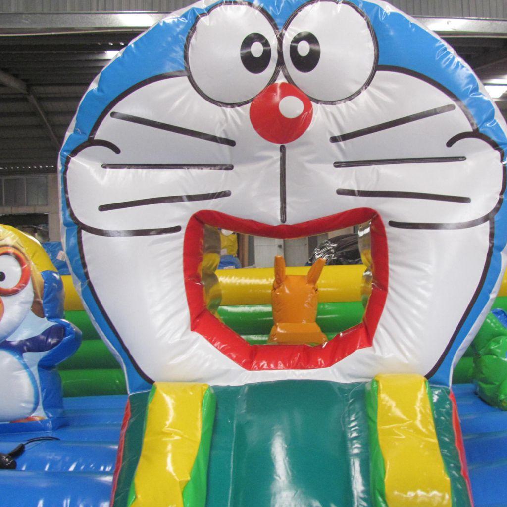 Hot Sale Inflatable Doraemon Kids Small Jumping Bouncer Castle Slide Combo for sale
