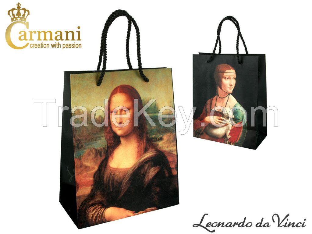 Bag- L. Da Vinci - Mona Lisa + Lady With An Ermine 25X20X10