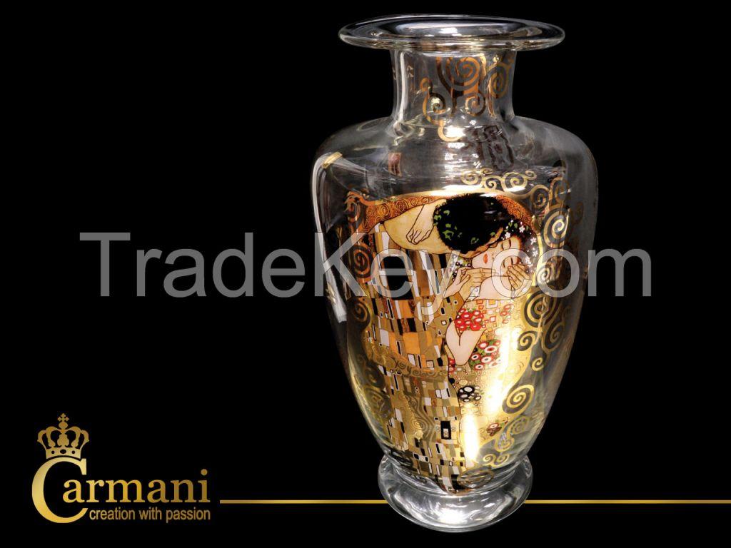 Glass Vase- Gustav Klimt- The Kiss
