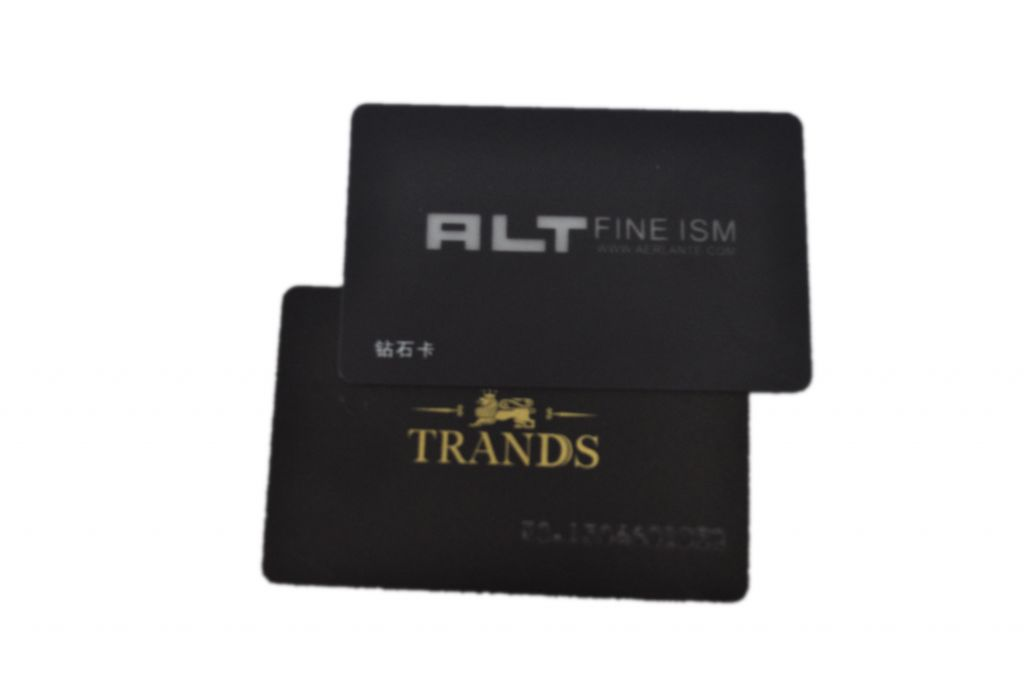 newly design security card vip membership with gold  hot stamping