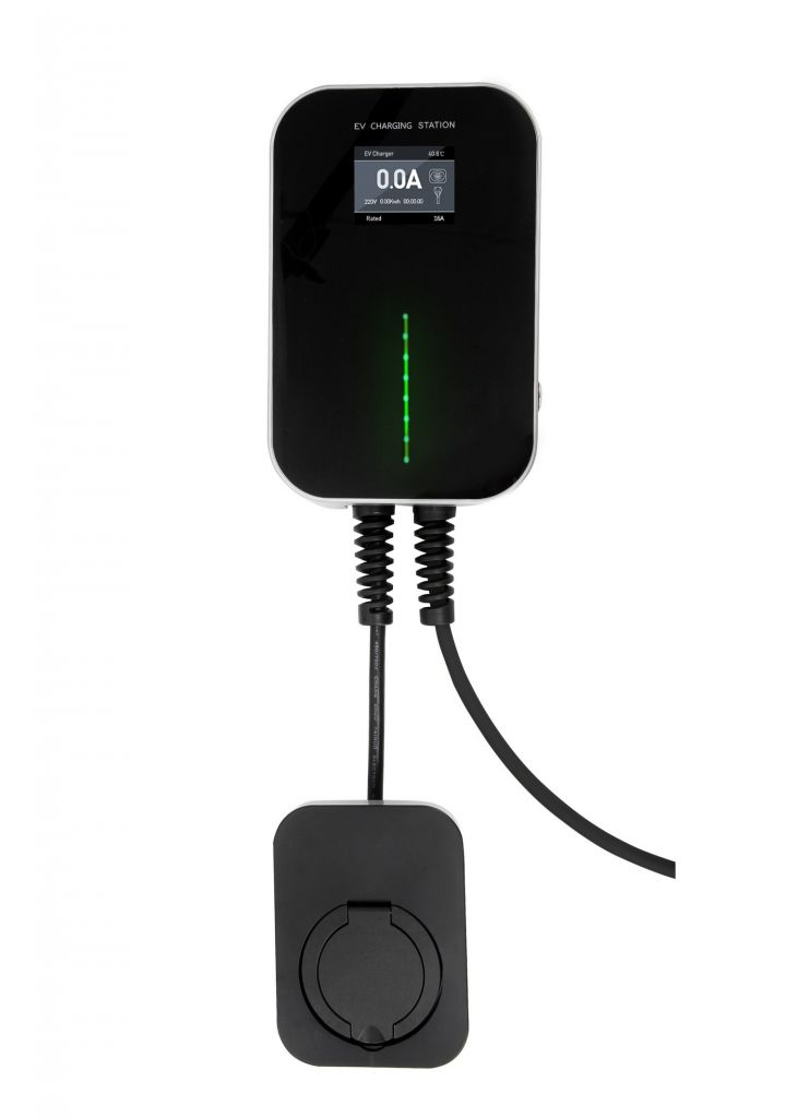 3.6kw(16A)/7.2kw(32A) LCD EV Electric Car Type 2 Socket Charger station