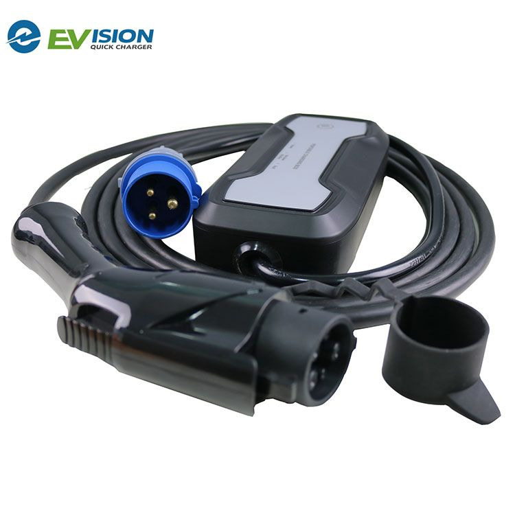 32A Portable EV Charging Box Type1 to CEE
