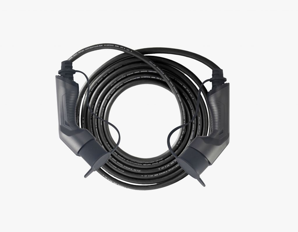 32A Single Phase IEC 62196-2 EV Charging Cable with 5m Black TUV Cord