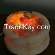 Lamps bedside made of (Rock salt)