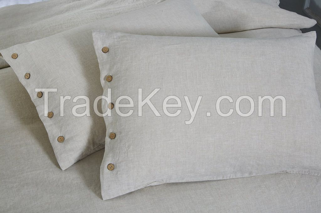 100% pure French flax linen bed set sheet set duvet cover pillowcase