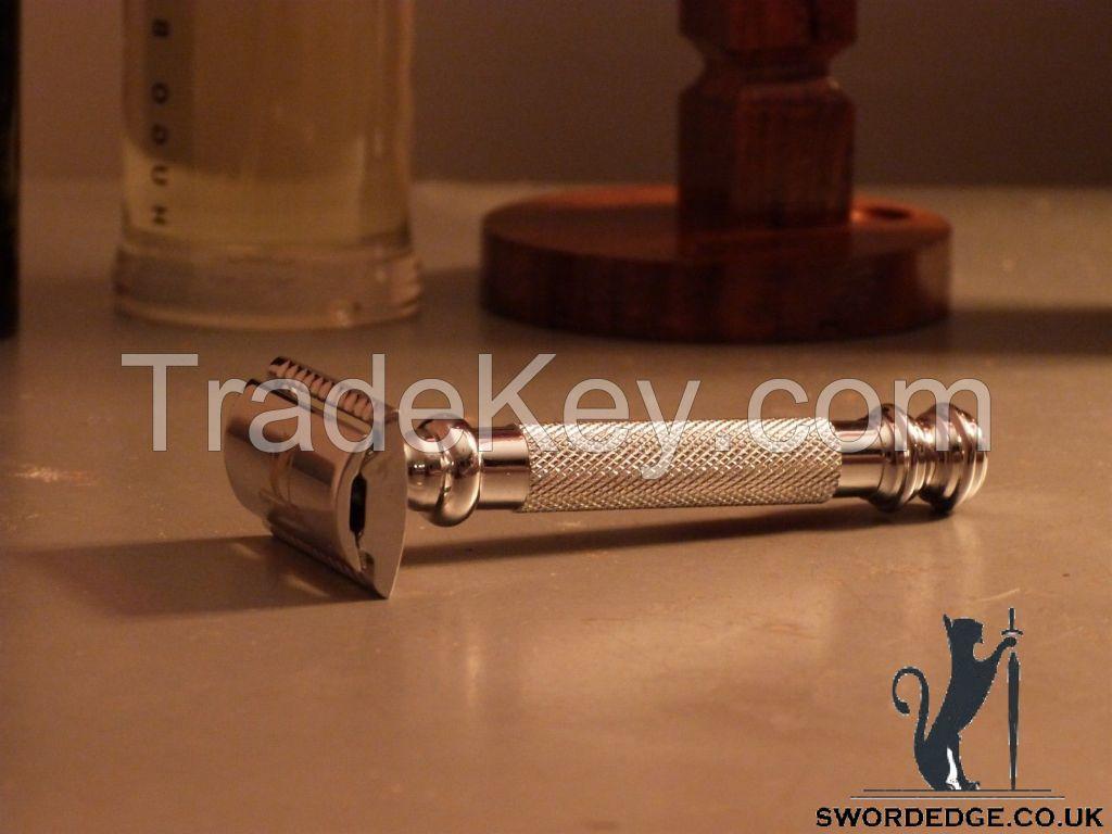 Sword Edge heavy duty Double Edge safety razor 130 grams Pewter head