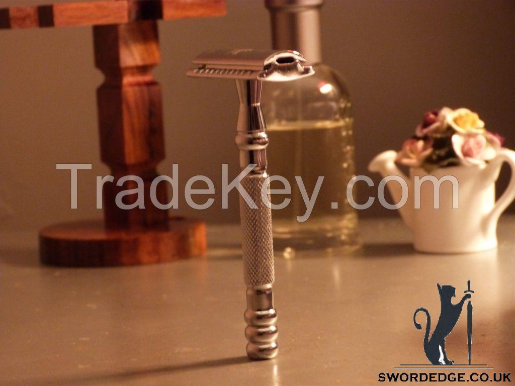Sword Edge heavy duty Double Edge safety razor 110 grams Pewter head