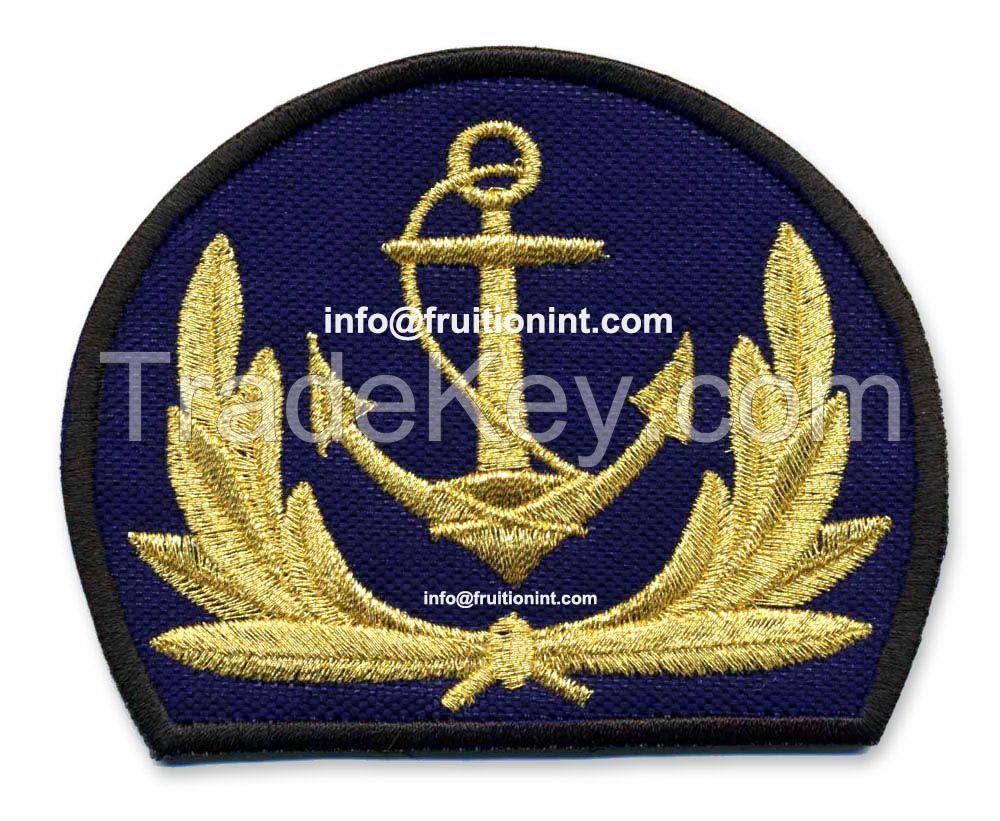 Bullion Thread Badge