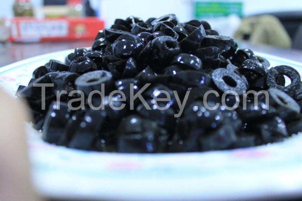 sliced black olive ,kalamata