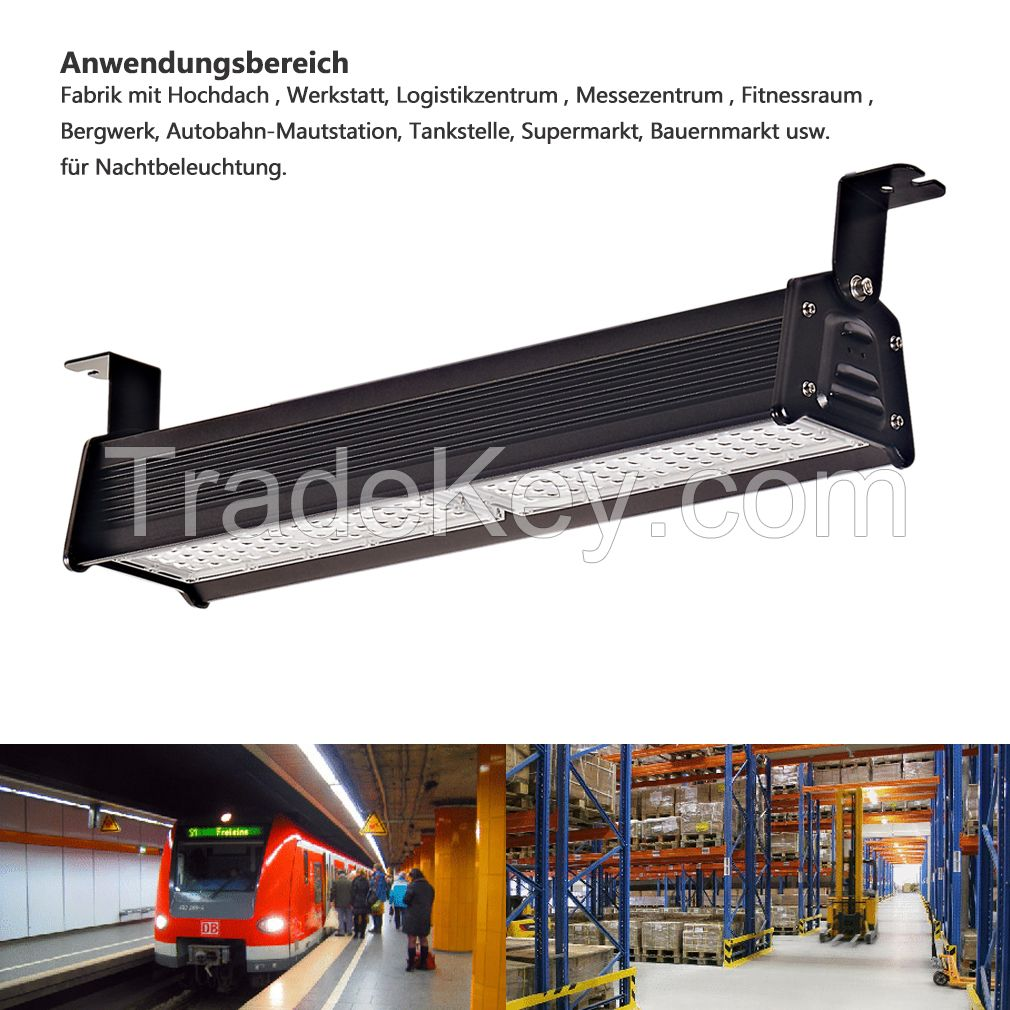 led linear high bay light full aluminum ip66 waterproof for warehouse workshop supermarket