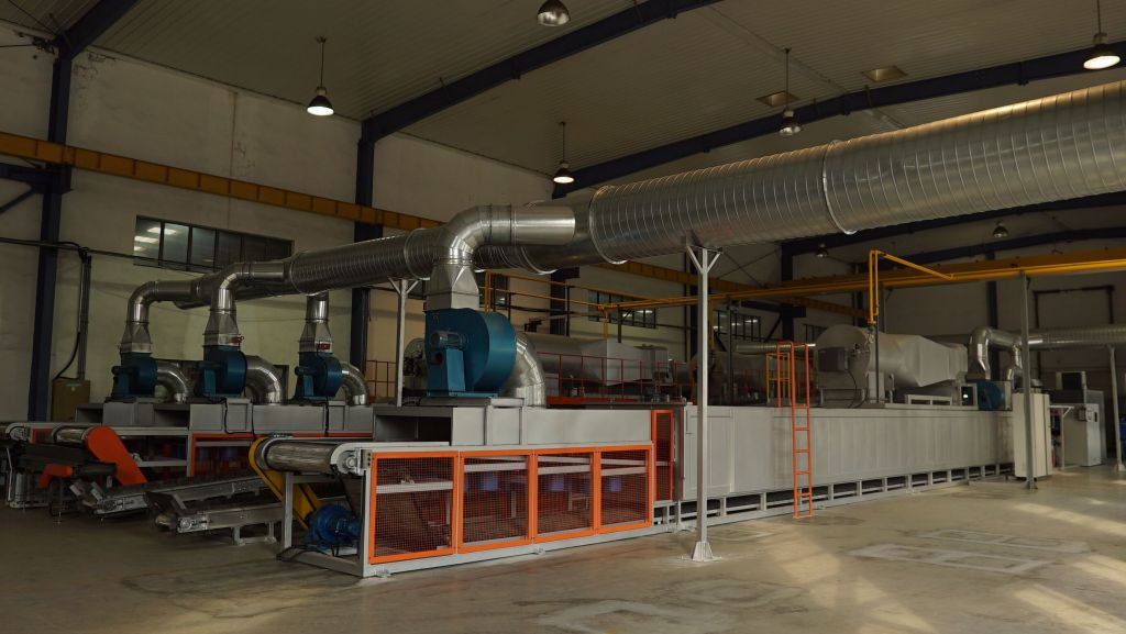 18 Meters Double Combustion Curing Furnace For Zinc Flake Coating FGG1812