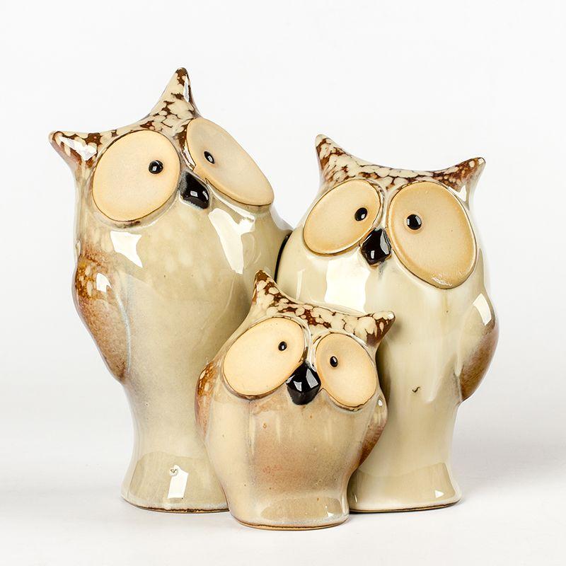 china ceramic home decorative cartoon owls ceramic owls candle holder