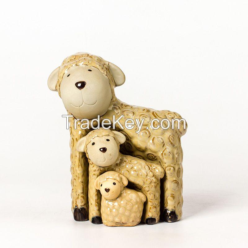 china ceramic home decorative cartoon cows ceramic christmas easter items