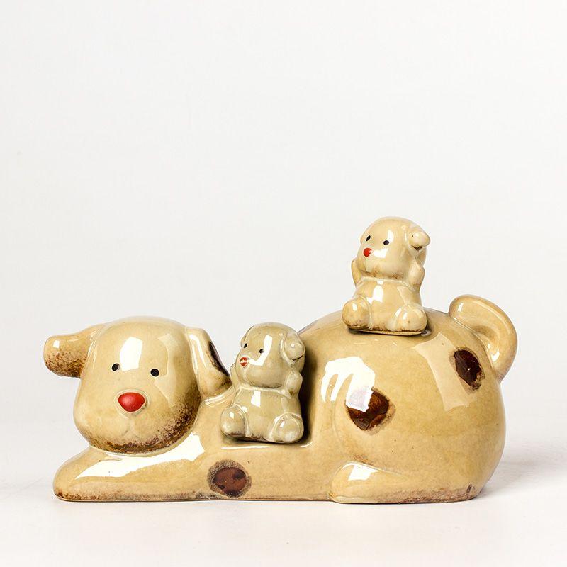 china ceramic home decorative cartoon olws candle holder salt and papper shaker ceramic money bank