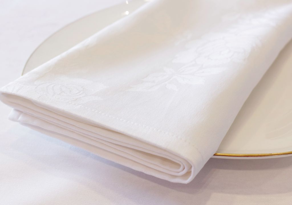 100% Cotton Rose Pattern Napkin