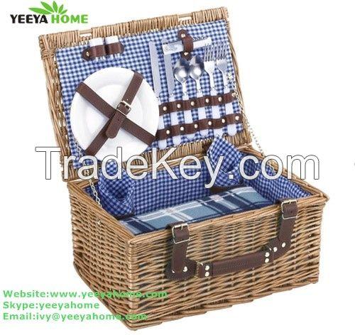 wholesale wicker picnic basket for 2person