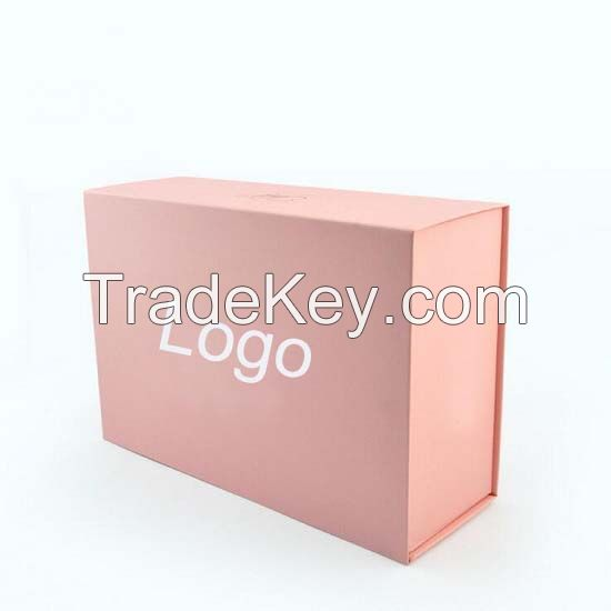 Luxury Packaging Custom Magnet Folding Paper Flat gift box