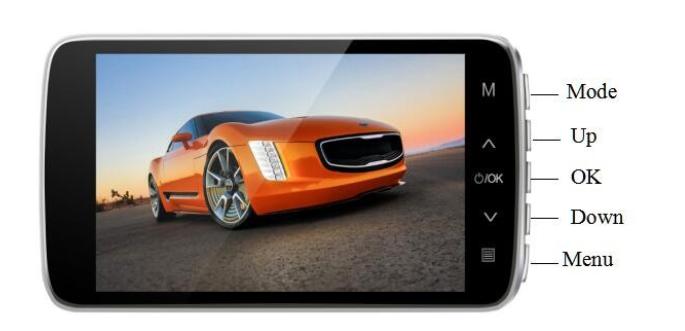 4 Inch IPS FHD 1080P Dual Lens Car DVR Camera