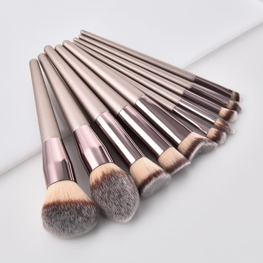Fashion Brushes Wooden Foundation Cosmetic Eyebrow Eyeshadow Brush Mak